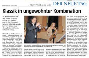 Trompete und Saxofon in Mitterteich